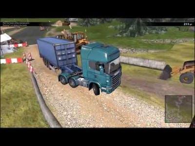 {XB} I Get Stuck a Lot [Scania Truck Driving Simulator] (Part 1)
