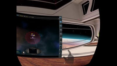 Playing Imperium Galactica 2 in VR with Hand tracking on the Oculus Quest.