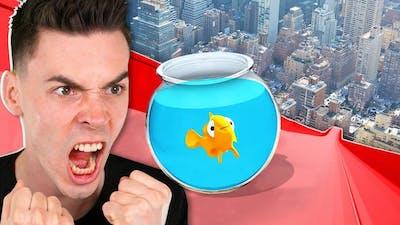 MAŁA RYBKA VS OGROMNA ZJEŻDŻALNIA!!! 😱 (I Am Fish)
