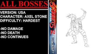 Streets of Rage 2 (Sega Genesis) - (All Bosses | Hardest Difficulty)