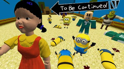 MINIONS PLAYING the SQUID GAME in GREEN LIGHT, RED LIGHT IN MINECRAFT - Gameplay