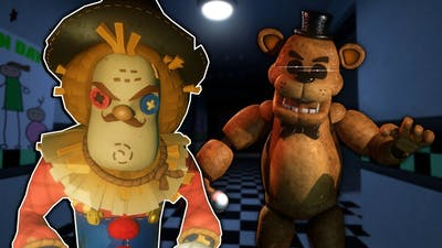 The Neighbor is at the FNAF Pizzeria?! - Secret Neighbor Multiplayer Hide and Seek