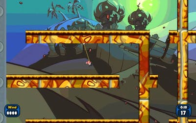 Worms Reloaded first attempt at Rope Racing! Part 1