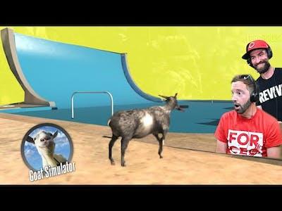 Goat VS Halfpipe! (EXTREME GOATING! ) / Goat Simulator