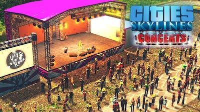 Обзор DLC Concerts 🎸 к Cities: Skylines! Новая музыка, радиостанция и концерты!