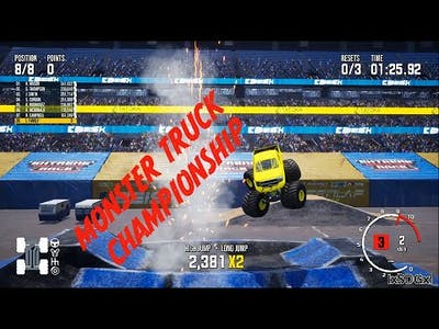 monster truck champ ep1, FIRST LOOK & going for the win! #monstertruckchampionship #monstertrucks