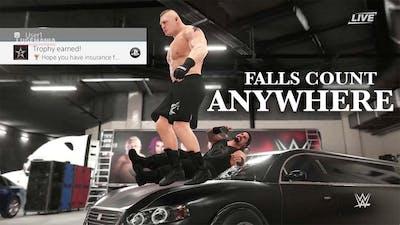 WWE 2K18 Brock vs Roman - Falls Count Anywhere