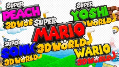 All Super Mario 3D World Character Game Modes! (Yoshi, Sonic, Peach, Wario)