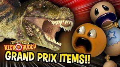 T-REX ATTACK!!! | Kick the Buddy: Grand Prix Items Unlocked!!!