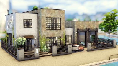 The Sims 4 Lover's Industrial Loft Converted Warehouse in Windenburg  No CC   Stop Motion