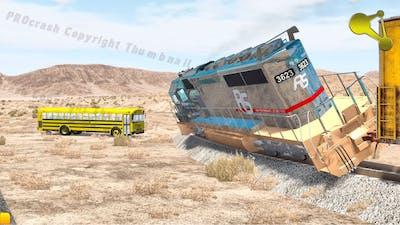 BeamNG.Drive Derailment of the train crash