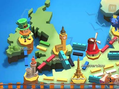 Ticket to Ride: First Journey - Gameplay (iPadstory.ru)