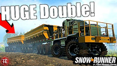 SnowRunner: NEW, HUGE KENWORTH MINING TRUCK with DOUBLE TRAILERS!