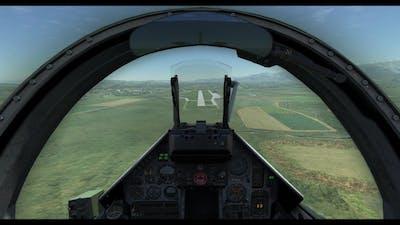 DCS M-2000C Empty Fuel, Gliding Emergency Landing
