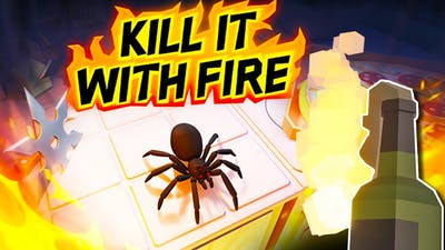 Burning EVERYTHING To Destroy The Jumping Spiders - Kill It With Fire (Game Update)