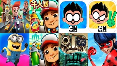 Subway Surfers Berlin VS Chinese Version Bus Rush Despicable Me Temple Run 2 Miraculous Ladybug