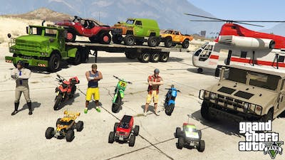 GTA V New Challenge with Trevor,  Michael & Franklin By RC cars, Motorcycle and Offroad Cars