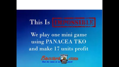 This is IMPOSSIBLE: Panacea TKO makes 17 units in a mini game
