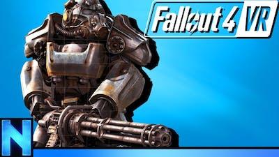 VR Power Armor & Minigun Fun In Fallout