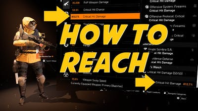 The Division 2: HOW TO REACH 410% CRIT DAMAGE