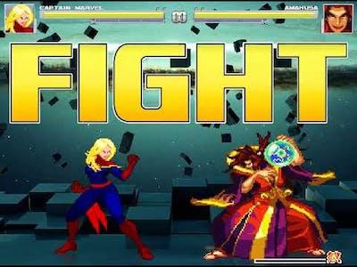 MUGEN Captain Marvel [vs] Amakusa (AI Battle)