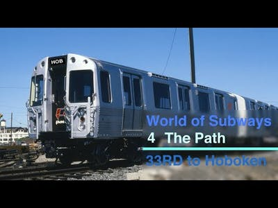 World of Subways 1 The Path 33rd Street to Hoboken with Manuel Announcements