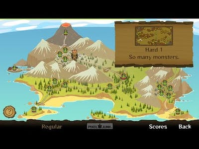 PixelJunk Monsters Ultimate Edition, Tiki Island, Hard 1 - So many monsters (Regular difficulty)