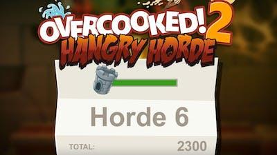 Overcooked 2. Horde Mode. Level 6. Full Kitchen Health. Co-Op