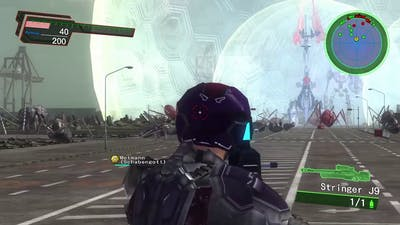 "EDF 200 Armor Challenge - dlc 1 Mission 5 ""defense line"" - earth defense force 4.1"
