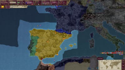 Victoria II game with Spain