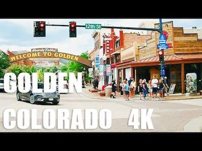 [4K] DRIVE GOLDEN COLORADO-USA