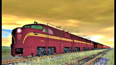 Diesel Power vs Steam Power : PRR PA vs PRR T1  - Trainz