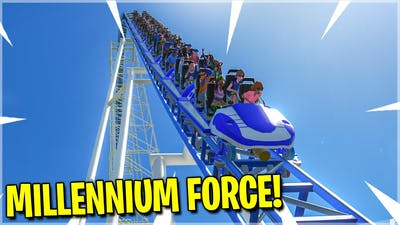 I Made MILLENNIUM FORCE! *Epic POV Rollercoaster* (Planet Coaster)