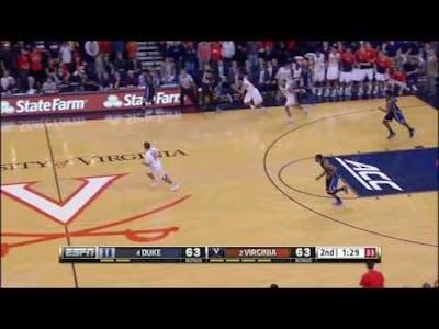 Final 2 Minutes of Duke v. Virginia 2015