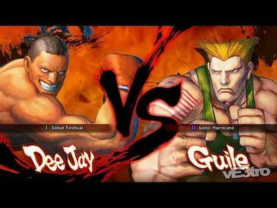 Super Street Fighter IV (4) - Dee Jay vs Guile Match (HD 720p)
