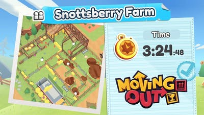 Moving Out.Snottsberry Farm. Gold Medal. 2 Players Co-op