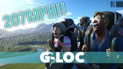 200+MPH Giga Coaster Cinematic POV Roller coaster Ride G-LOC