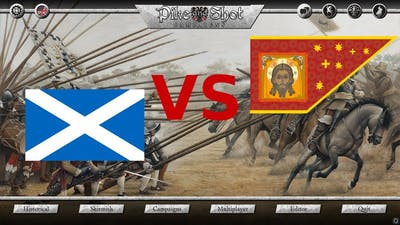 Pike and Shot Campaigns - Gameplay - Russian salvo vs Scottish pikes