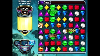 Bejeweled 3 (Mobile) - Full Minute of x9!
