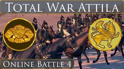 Total War Attila : Online Battle 4 : Huns vs Sassanids