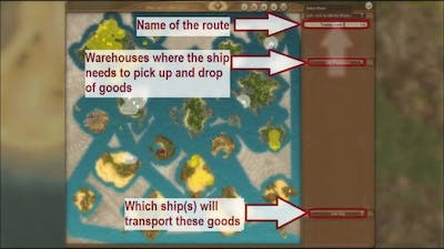 Anno 1404 Trading Tutorial Setting up routes HD