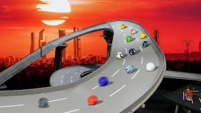 The best marbles racing - GlassCar 2020 - Race 2 (C2) GP SunStorm - by Fubeca's Marble Runs