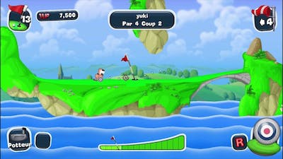 Worms crazy golf Game Play (HQ)