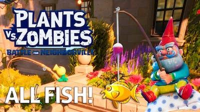 ALL GOLDEN FISH!!! Plants vs Zombies Battle for Neighborville