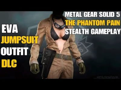 MGSV TPP: MGS3 Eva Jumpsuit Outfit Showcase - Extreme Stealth Gameplay