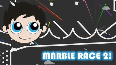 Marble Race 2 with Kinder Playtime - Made in Algodoo!
