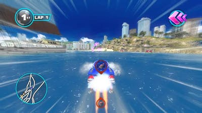 Sonic & All-Stars Racing: Transformed (PC) Intro and Outrun Bay w/ Sonic