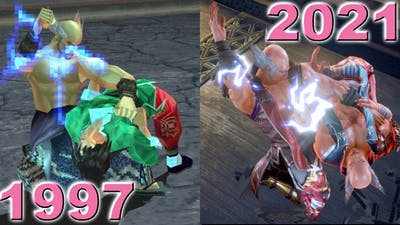 Evolution of Heihachi Guillotine Chop In 13 Games (1997-2021)