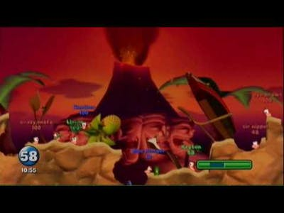 Playing worms (grenades only) part 1of 2