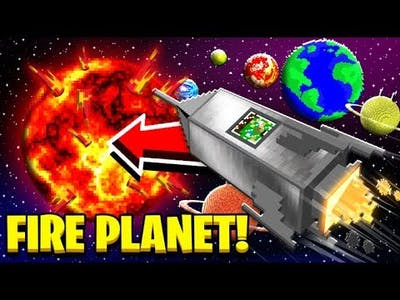 I tried SURVIVING on a FIRE PLANET in Minecraft!